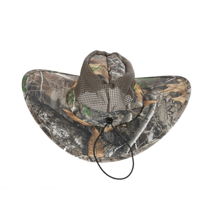 Packable Camo Mens Hat - Back w/Drawstring